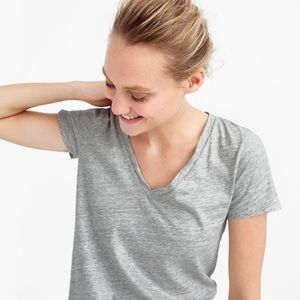 J. Crew Tops - J.Crew Vintage Cotton Metalic Grey Tee- Large